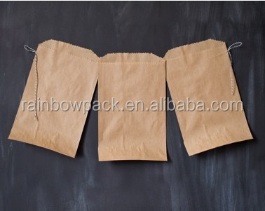 Grease proof sharp bottom Fast Food French fries paper packaging bag