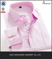 Wholesale solid color oem nice design casual dress shirt