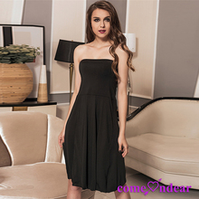 On Sale Low MOQ Black Pretty Fashion Women Frock Off The Shoulder Dress