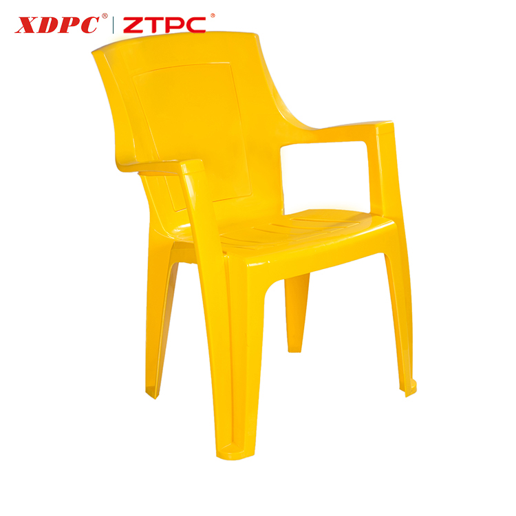 The cheapest price plastic cheap modern design outdoor garden chair with arm