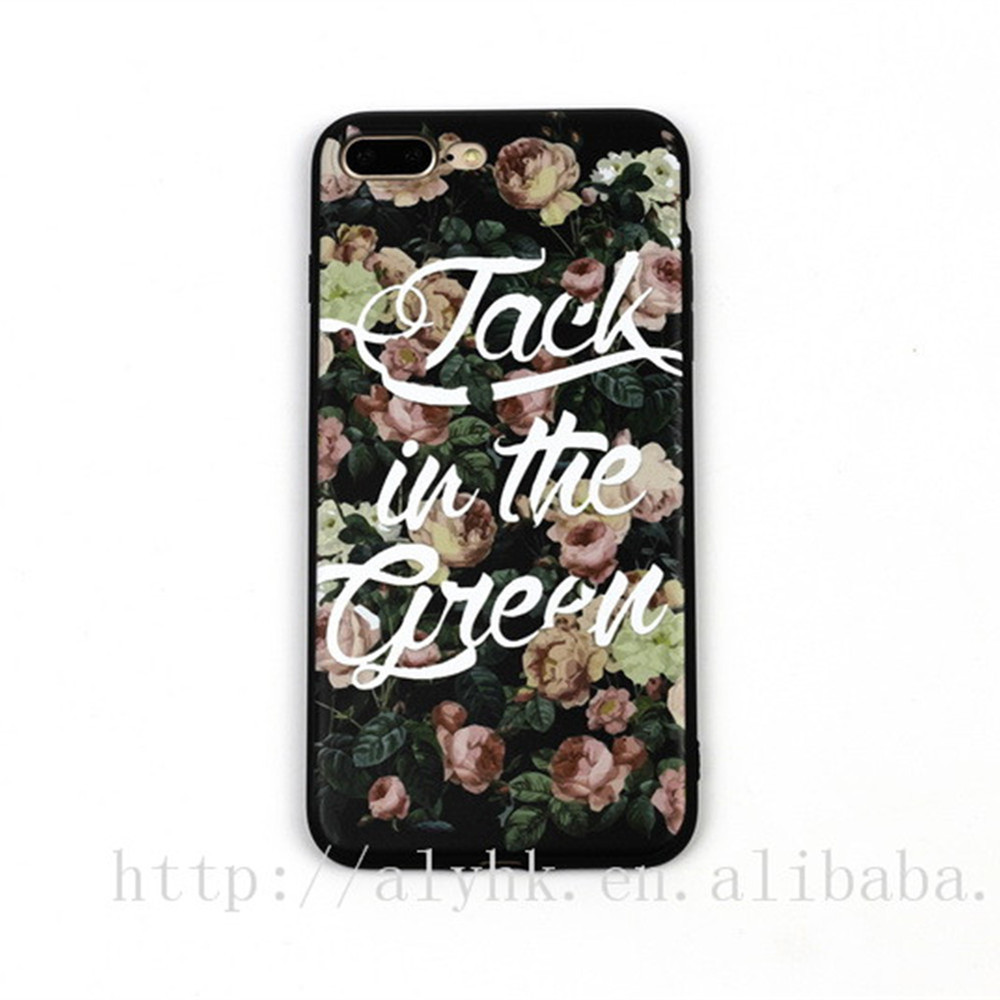 Free Sample Flower Pattern Phone Case for iphone 5s,For iPhone 5 5S 6 6s Plus 7 Plus Printing soft silicone back cover
