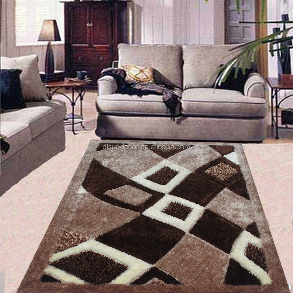 Modern Living Room Long Pile Carpet Rug