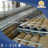 galvanized street lighting pole