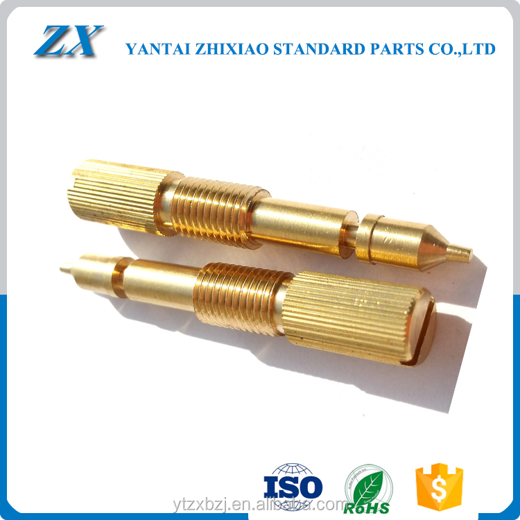 small brass straight hollow dowel pin