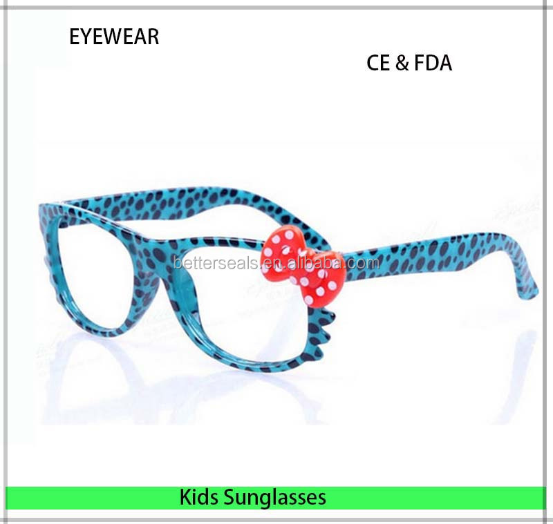 New products Hello kitty Anti uv children sun glasses with both smoke and clear lens selection Eyewear