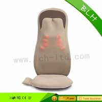 Vibrating car home-used seat cushion back massager for car Body properties massager with heating shiatsu and kneading