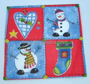 Christmas Printed Paper Dinner Napkins/Snowman Paper Napkins