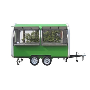 Trailer Type Mobile Restaurant Food Truck For Sale