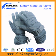 High quality black color heated inner liner lithium battery heated thin gloves