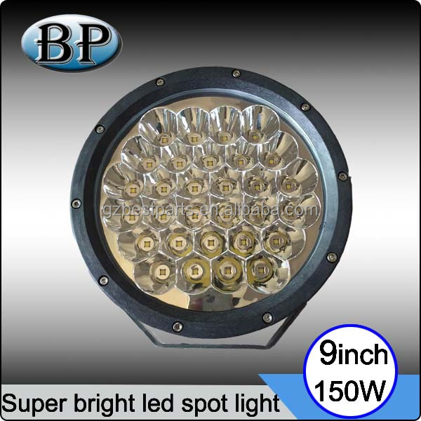 9 inch 150w Led Round Driving light spot/flood cover offroad 4x4 ATV Trucks 150w led driving spot light