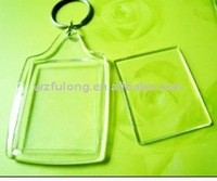 plastic square blank key chain