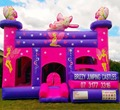Pink inflatable bouncy castle/commercial bounce house