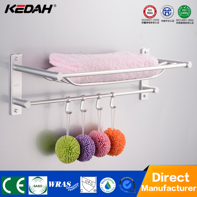 Factory direct aluminium towel rack wall mounted bath corner heated towel rack