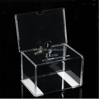 Acrylic Suggestion Box Lucite Ballot Box Plastic Donation Box/Pmma Vote Bin