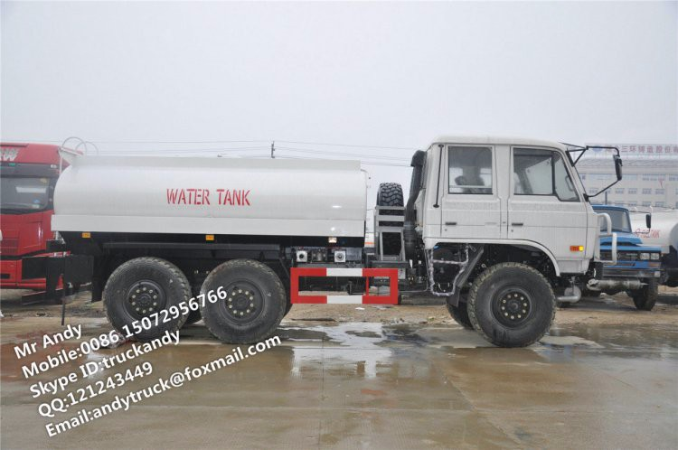 Dongfeng 6x6 water delivery truck,6x6 water transportation truck