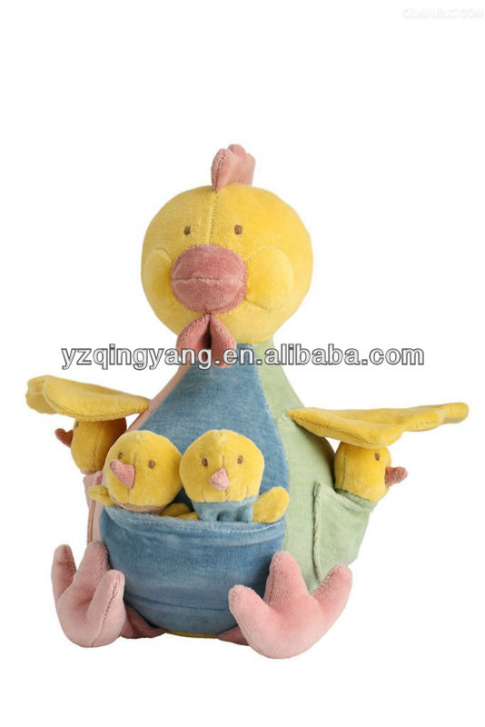 Cute and special style stuffed animal plush chicken family toy
