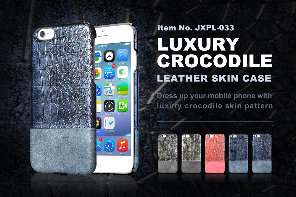 New arrival crocodile skin PU leather back cover PC case for iphone 7