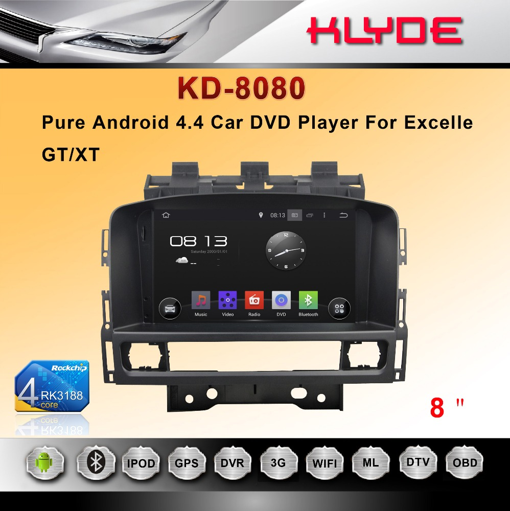 8 inch Android gps car dvd with 3G Bluetooth Wifi Radio for Excelle GT/XT 2011-2012