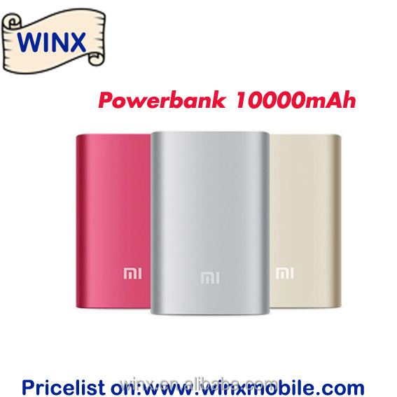 Original 10000mAh power bank mobile backup bateria externa universal charger for cellphone and LED Light on Winx