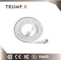 Factory thin flat crystal head cat6 utp cable patch cord 2m 3m 5m