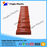 Plastic big wave roof tiles with low price