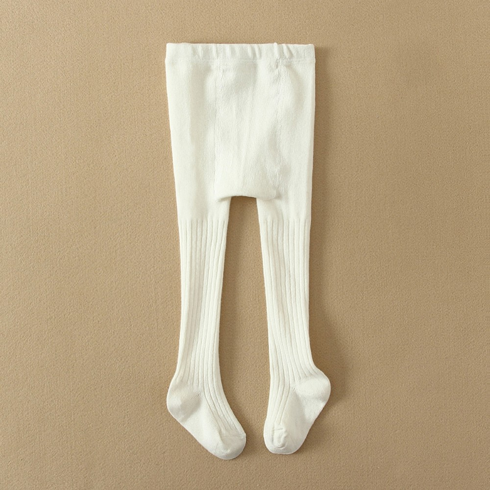 MOM AND BAB 100%cotton knitting child clothing child tights white