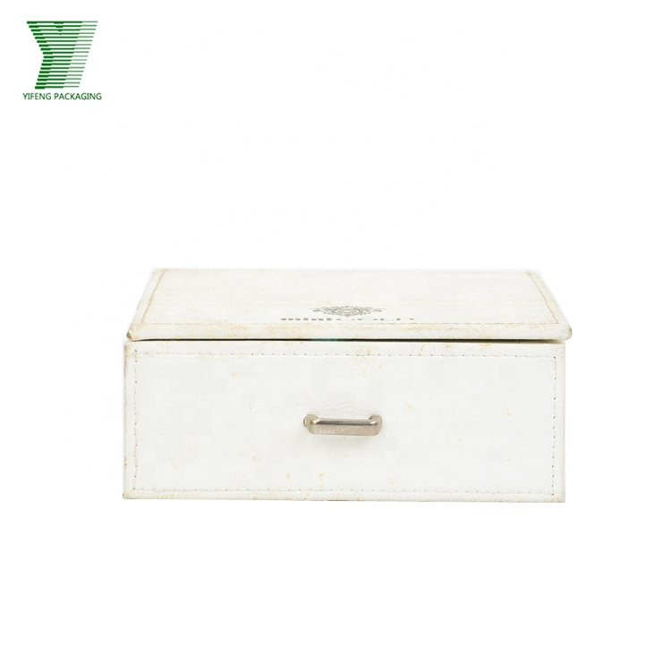 Creative design PU leather luxury mirror gift drawer packaging boxes