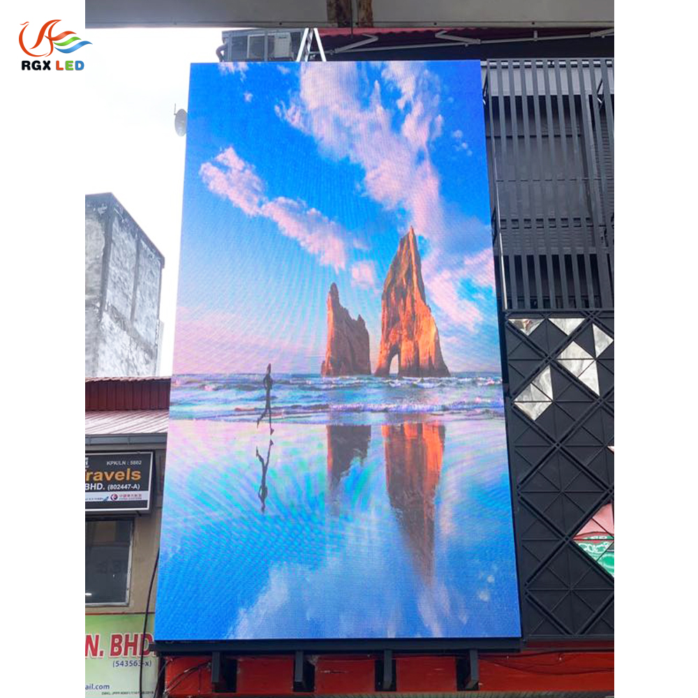 RGX outdoor SMD <strong>P10</strong> full color commercial giant video wall huge big tv <strong>led</strong> billboard