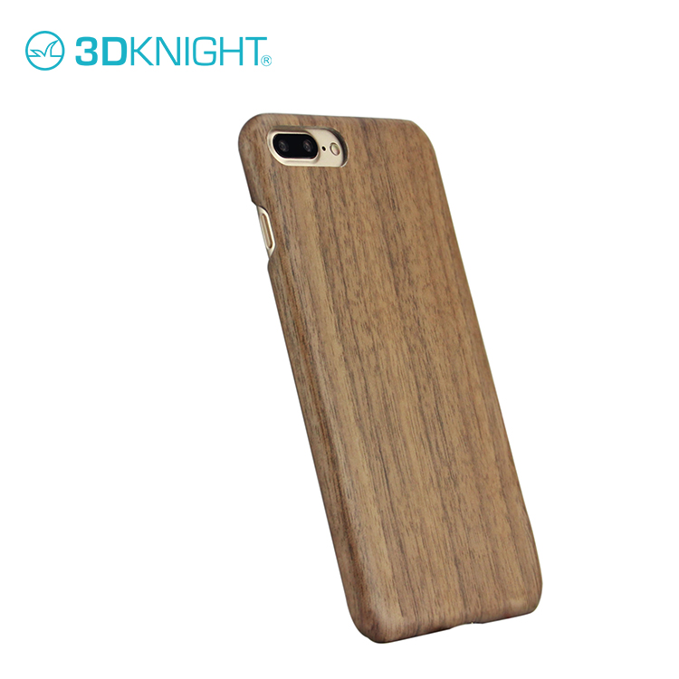 High protect heavy duty cell phone cases for iphone 7 wood case walnut