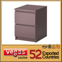 Two drawer purple steel file drawer cabinet