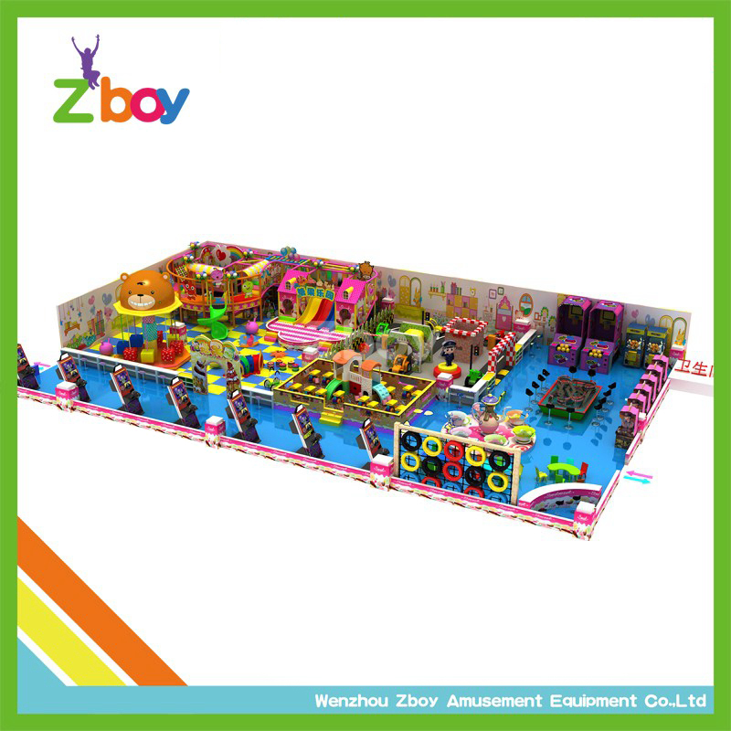 Square Meters Candy World Indoor Playground Equipment for Kids
