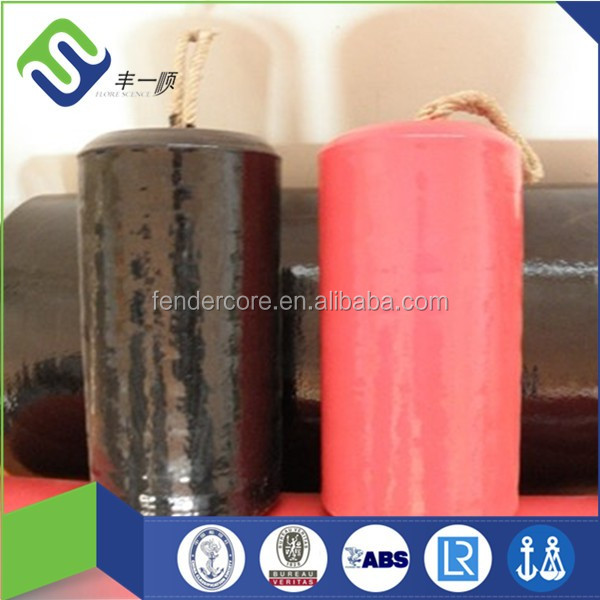 Cetificated by third party and factory flangeless rope tired floating EVA foam fender