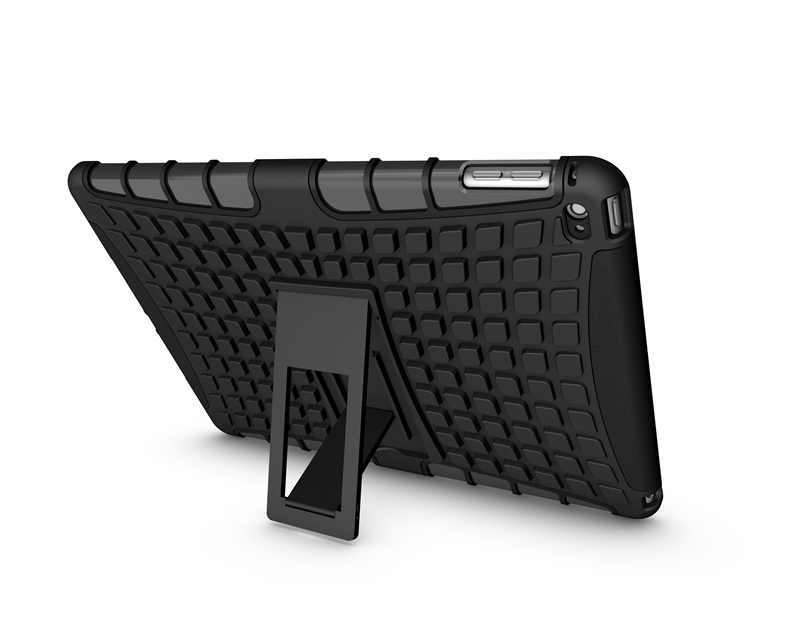 shockproof tablet case for iPad air 2 for iPad 6, for iPad kickstand armor case , for iPad case silicone