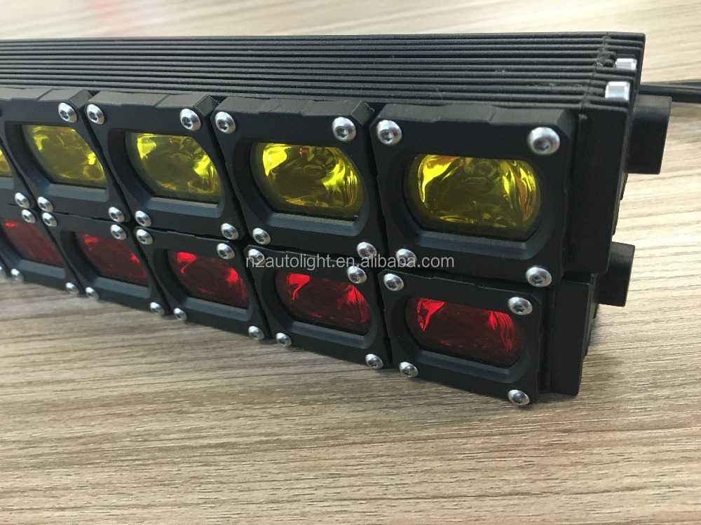 N2 Brand New Off Road Driving Red Optic 5D QUAD 30W Square LED Work Light Bull Bar ATV UTV