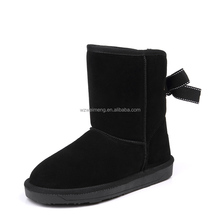 new women boots 2015 Hot sale one button sheepskin boots manufacturer leather women shoes genuine leather women witer snow boot