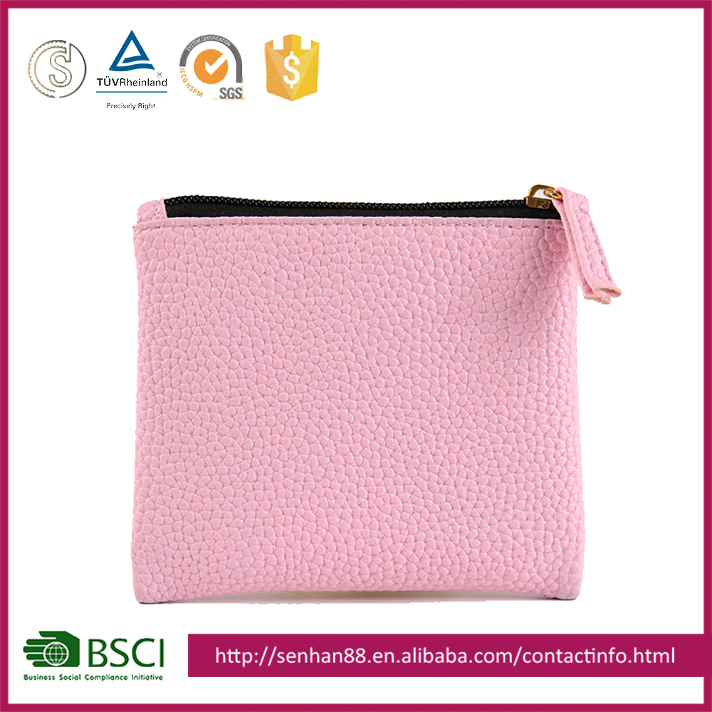 Hot selling soft PU leather fashion women wallet, ladies clutch purse