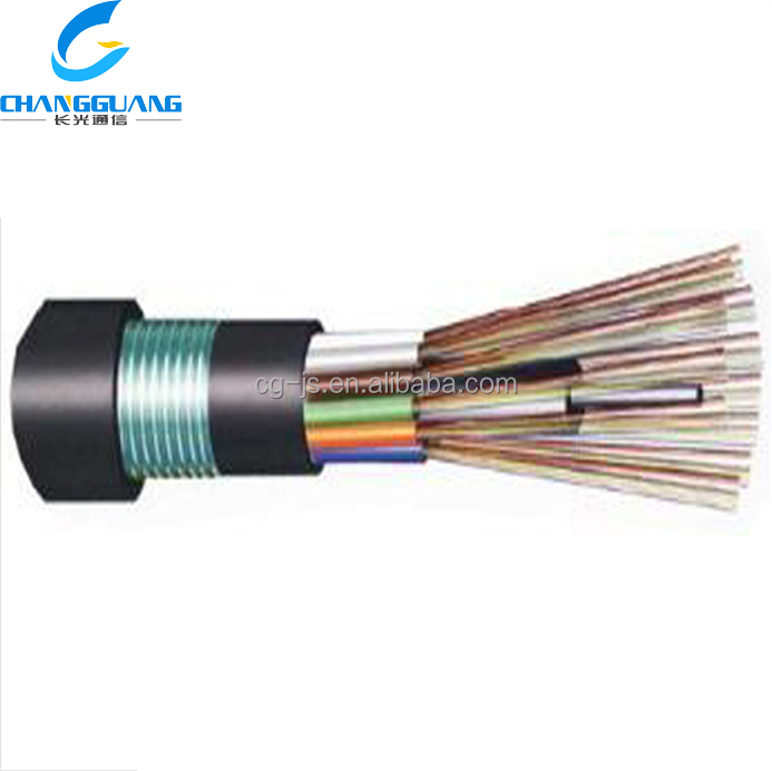 Hot sale Crush resistance flexible Duct Aerial &direct buried outdoor GYFTY53 cable fiber optic