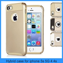 Gold PC Shockproof Dirt Dust Proof Hard Matte Cover Gold Case For iPhone 5S iphone 5 4S 4G (PT-I5S210)