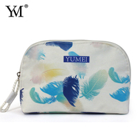 2016 Popular Wholesale Custom Promotional Professional Makeup custom flower wome's beauty bag for cosmetic