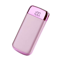 LED light power bank with led charge indicator, fast charge with 10000mah 20000mah corporate gifts power bank
