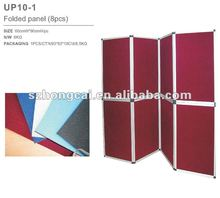 Colorful fabric exhibition panel display