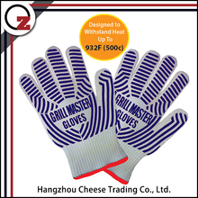 New design bbq heat resistant gloves waterproof with silicon