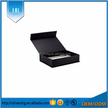 Black custom hard paper magnetic gift box