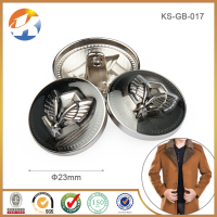 Fashion Luxury Alloy Custom Logo Metal Buttons