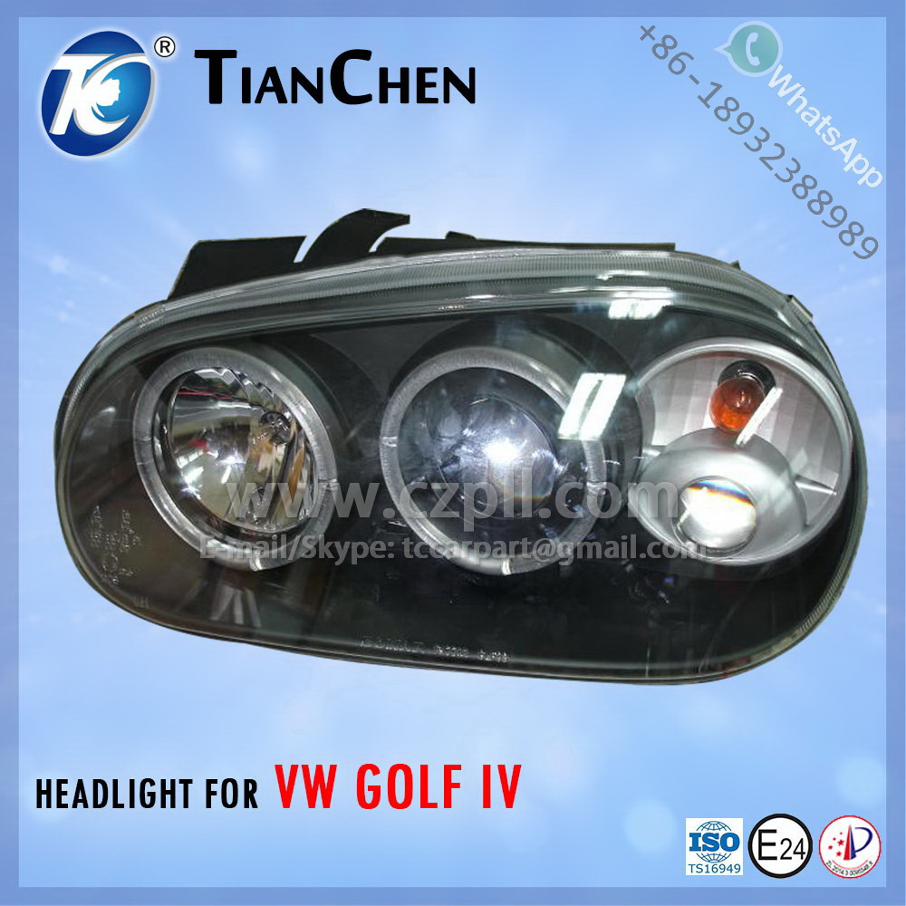 HEADLIGHT for GOLF 4 G4 1998 - 2002 BLACK