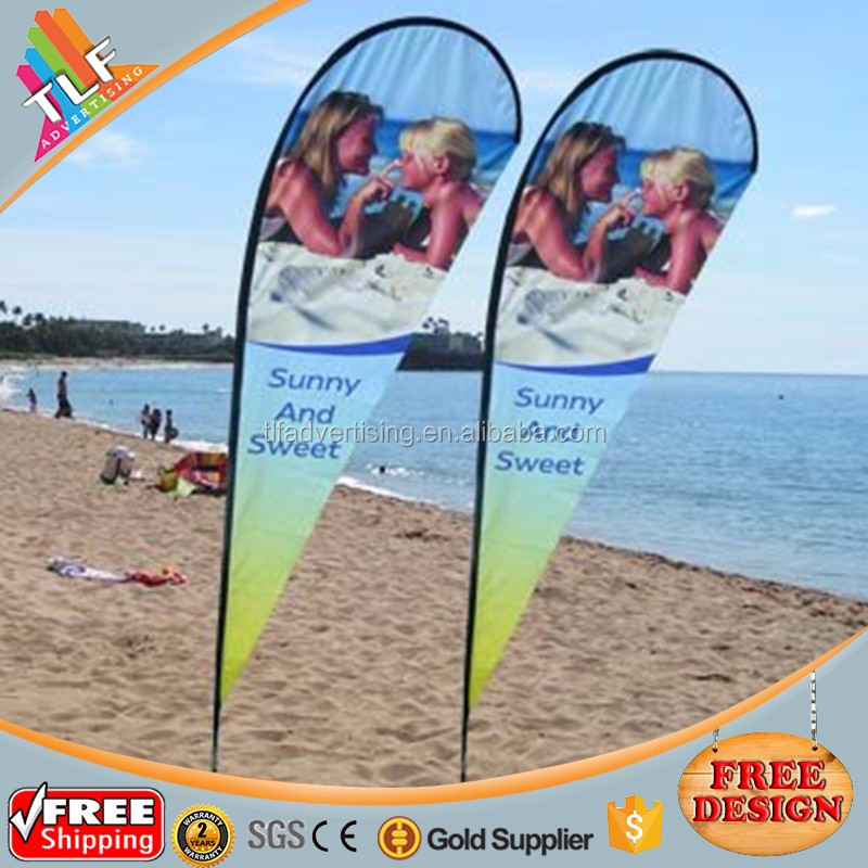 Custom photo graphics printed double side teardrop banner