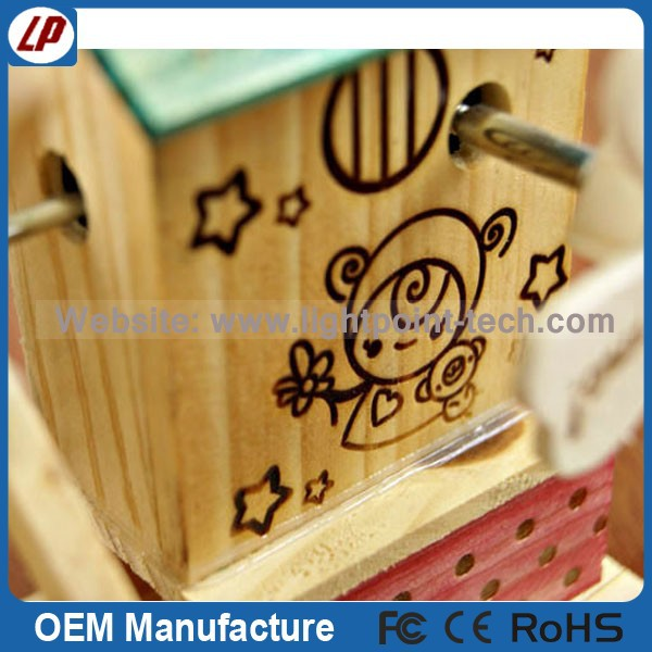 Best choose wooden music box Mediterranean style Windmill music box gift