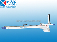 Supply plastic injection molding machine rotary robot arms with double arms