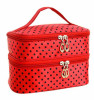 Double-deck Travel Toiletry Beauty Cosmetic Bag Makeup Case Organizer bag