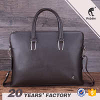 OEM customized design men's business bags for PU leather briefcase